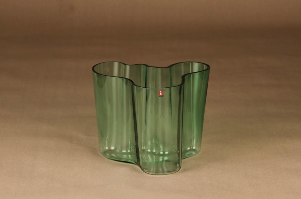 Iittala Aalto Collection maljakko, signeerattu, suunnittelija Alvar Aalto, signeerattu, signeerattu
