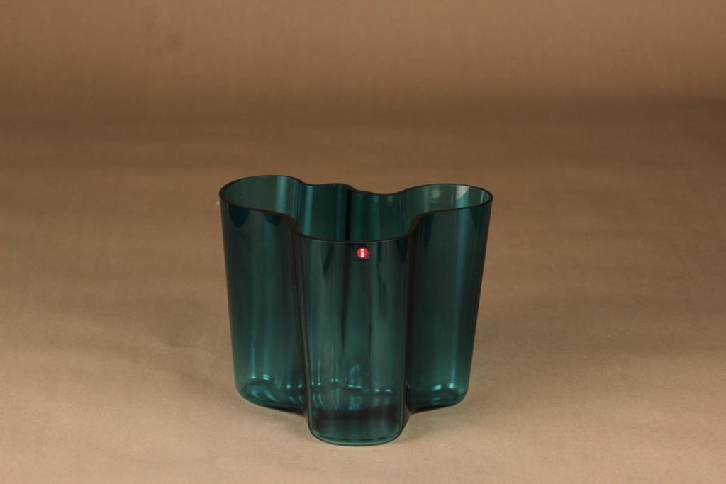Iittala Aalto Collection turquoise green vase designer Alvar Aalto