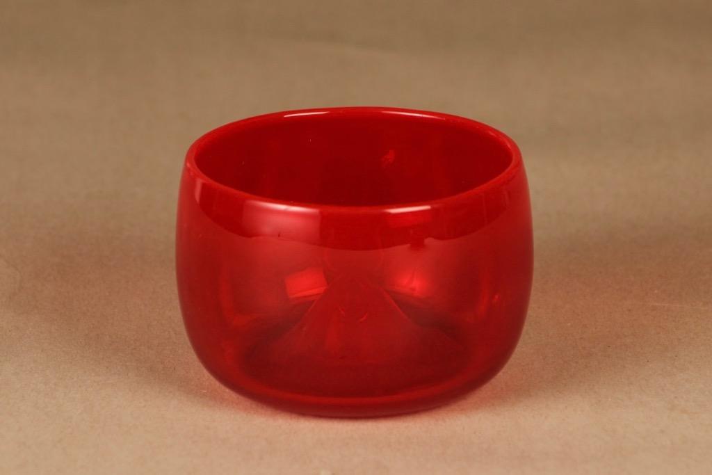 Nuutajärvi Rosso art glass designer Kaj Franck