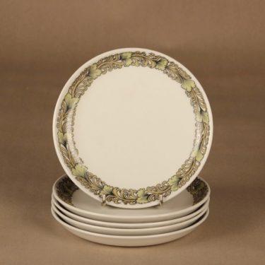 Arabia Hermes plate 17 cm, 7 pcs designer Raija Uosikkinen