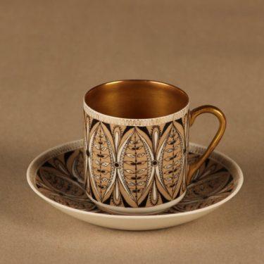Arabia Milla mokkakuppi, käsinmaalattu, suunnittelija Esteri Tomula, käsinmaalattu, signeerattu
