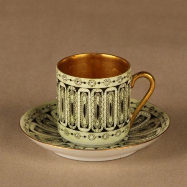 Arabia Hillevi mokkakuppi, käsinmaalattu, suunnittelija Esteri Tomula, käsinmaalattu, signeerattu