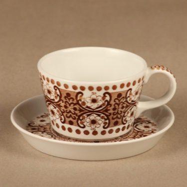 Arabia Ali coffee cup, brown designer Raija Uosikkinen
