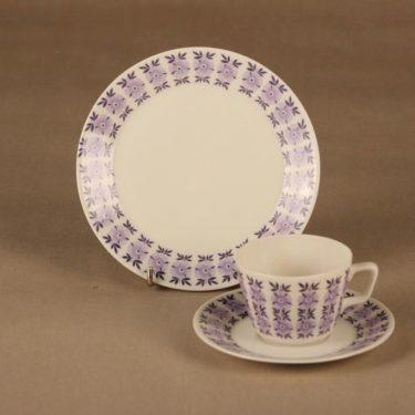Arabia Veronica coffee cup and plates(2) designer Raija Uosikkinen
