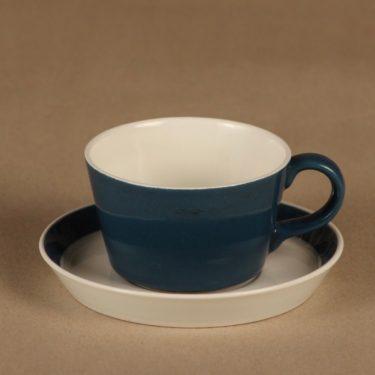 Arabia Myrtti kahvikuppi, sininen, suunnittelija Kaarina Aho, yksivärinen