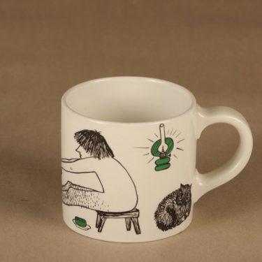 Arabia Löyly mug, hand-painted designer Gunvor Olin-Grönqvist