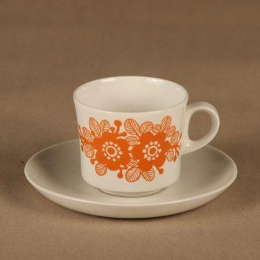 Arabia   kahvikuppi, 1.5 dl, suunnittelija , 1.5 dl, kukka, retro