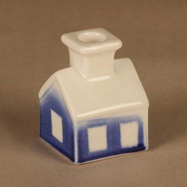 Arabia Kynttilätalo kynttilänjalka, sininen, suunnittelija Heljä Liukko-Sundström,