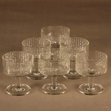 Riihimäen lasi Flindari Coctail-lasi, jalallinen, 6 kpl, suunnittelija Nanny Still, jalallinen,
