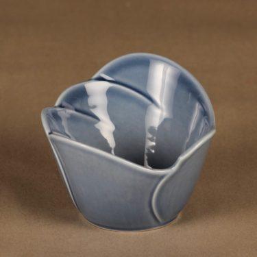 Arabia Tuuli dessert bowl, blue designer Heljä Liukko-Sundström