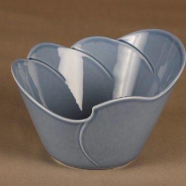 Arabia Tuuli serving bowl, blue designer Heljä Liukko-Sundström