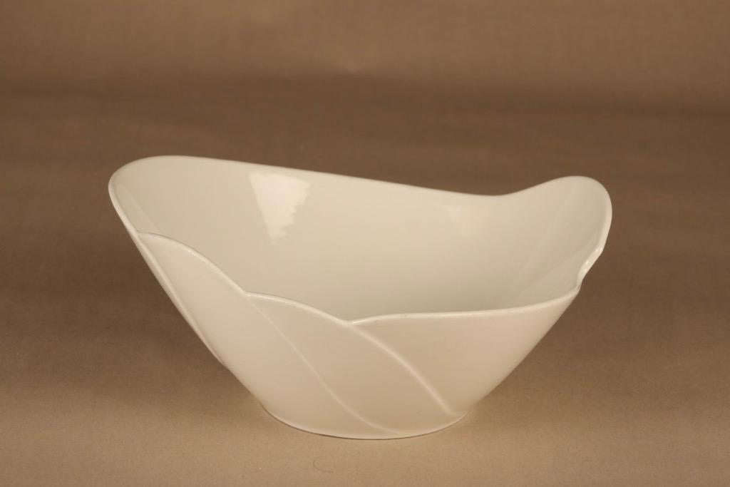 Arabia Tuuli serving bowl, white designer Heljä Liukko-Sundström
