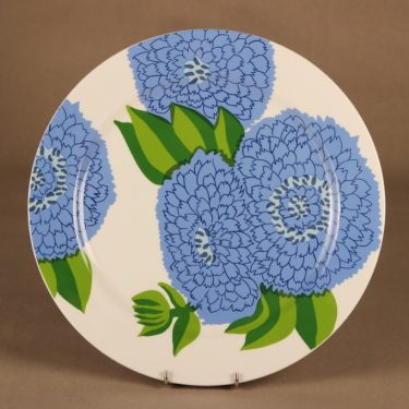 Iittala Primavera serving plate, Finnish blue designer Maija Isola