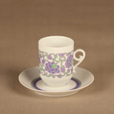 Arabia Ansa kahvikuppi, suunnittelija Esteri Tomula, serikuva, retro