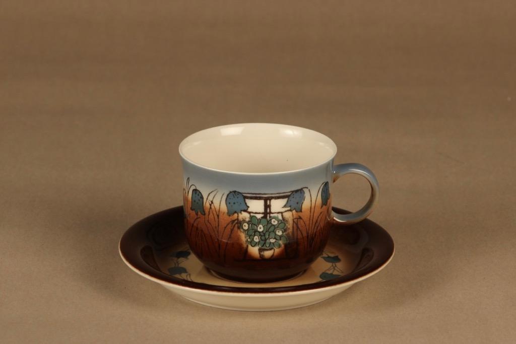Arabia Äidille teekuppi, 1978, suunnittelija Heljä Liukko-Sundström, 1978, serikuva, vuosikuppi, äidinkuppi
