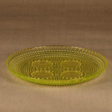 Riihimäen lasi Grapponia lautanen, 22.5 cm, suunnittelija Nanny Still, 22.5 cm