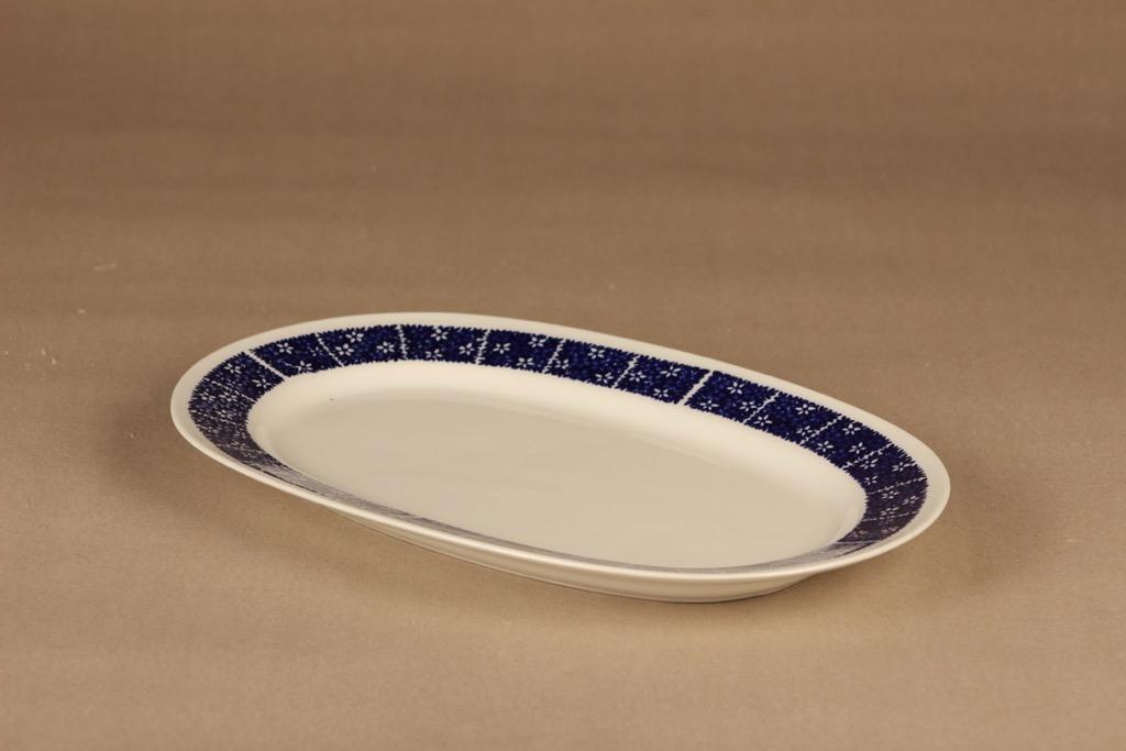 Arabia Pitsi serving plate, blue designer Raija Uosikkinen