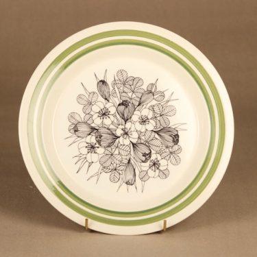 Arabia Krokus lautanen, 24.5 cm, suunnittelija Esteri Tomula, 24.5 cm, kukka
