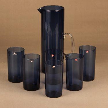 Iittala I-lasi pitcher ja 6 glass, 1+6 set designer Timo Sarpaneva