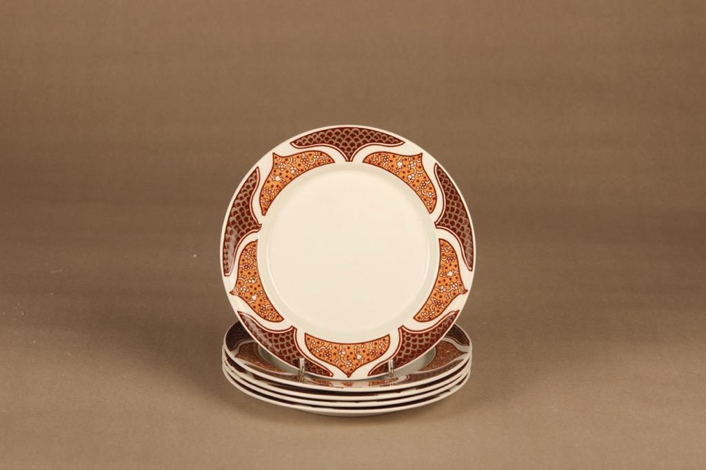 Arabia KS Arctica Bysantti plate 17.5 cm, 5 pcs designer Anja Jaatinen-Winquist