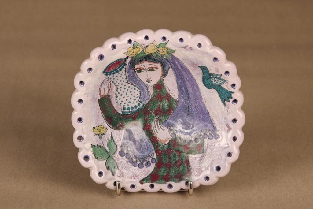 Arabia HLA art ceramic plate, unique designer Hilkka-Liisa Ahola