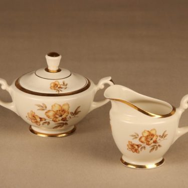 Arabia Myrna sugar bowl and creamer designer Olga Osol