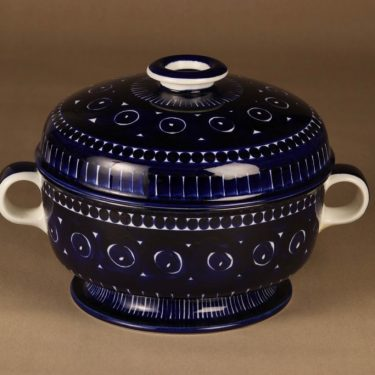 Arabia Valencia Kulho , käsinmaalattu 2.85 l, suunnittelija Ulla Procope, käsinmaalattu 2.85 l, signeerattu
