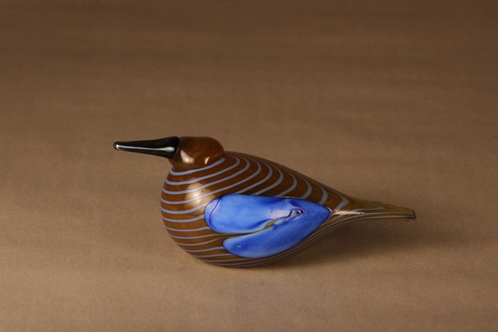 Nuutajärvi annual bird Blue Scaup Duck 2004 designer Oiva Toikka