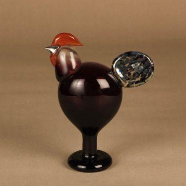 Nuutajärvi annual bird Rooster 1998 designer Oiva Toikka