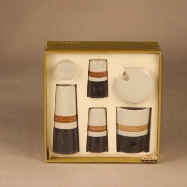 Arabia Spice set hand-painted 4 pcs designer Gunnel Sallmen