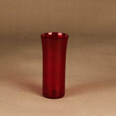 Nuutajärvi Trumpetti glass, ruby suunnittelija Kaj Franck