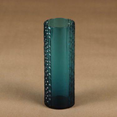 Riihimäen lasi Flindari lasi, turkoosi, suunnittelija Nanny Still,