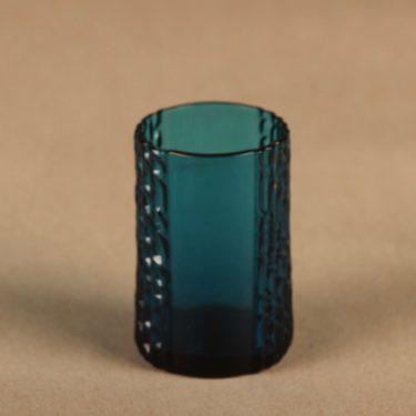 Riihimäen lasi Flindari glass, turquoise designer Nanny Still