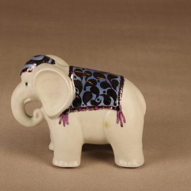 Arabia norsu-figuuri, käsinmaalattu, suunnittelija Inkeri Seppälä, käsinmaalattu, signeerattu