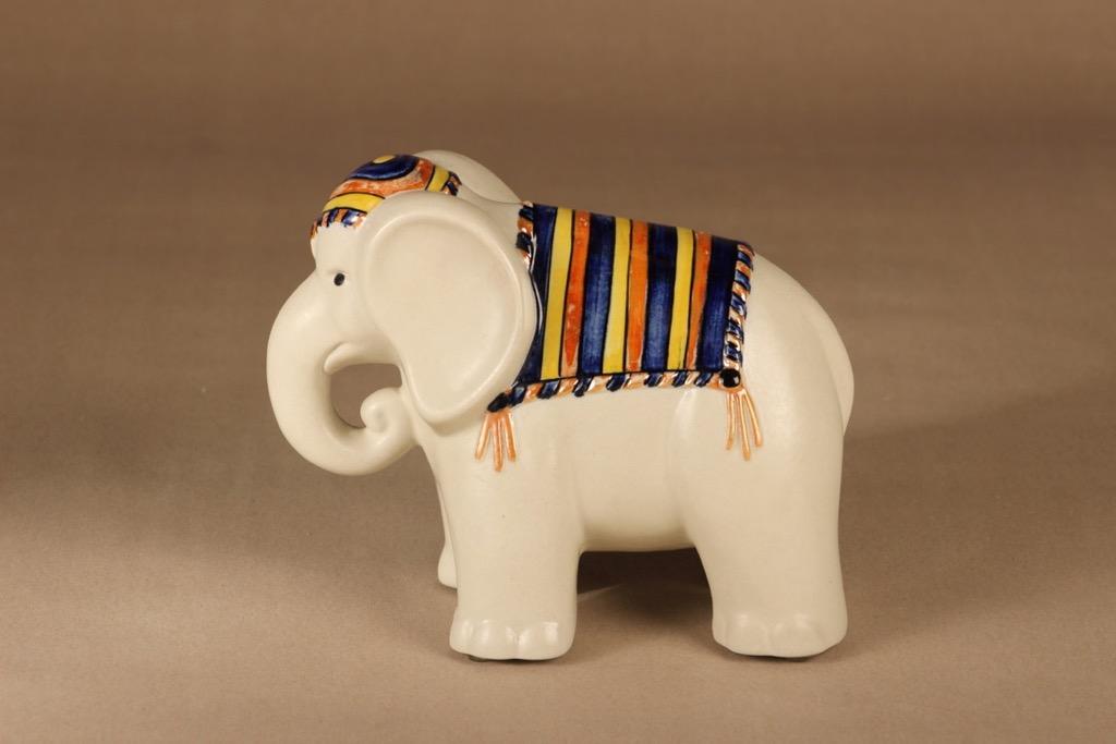 Arabia elephant figure, hand-painted designer Inkeri Leivo