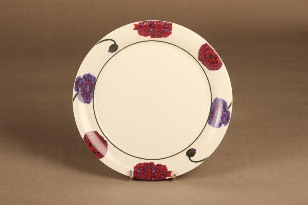 Arabia Illusia lautanen, 22 cm, suunnittelija Fujiwo ishimoto, 22 cm, kukka