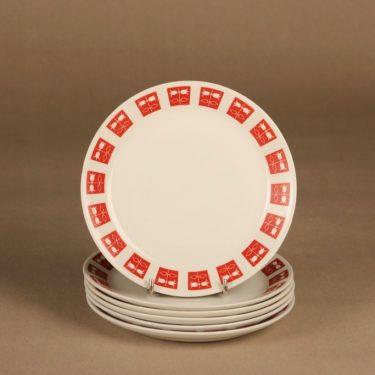 Arabia Hilppa plate 17.5 cm, 6 pcs designer Raija Uosikkinen