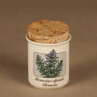 Arabia Meirami maustepurkki,, suunnittelija Veikko Roininen, , serikuva, mauste