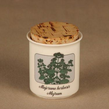Arabia Rosmarin maustepurkki,, suunnittelija Veikko Roininen, , serikuva, mauste