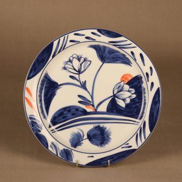 Arabia Arctica Nova tarjoilulautanen, sininen, oranssi, suunnittelija Dorrit von Fieandt, kukka, moderni