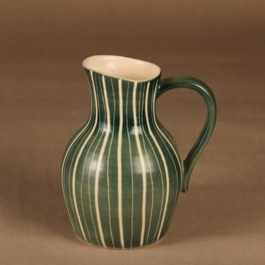 Arabia Siena vase, hand scratched designer Raija Uosikkinen