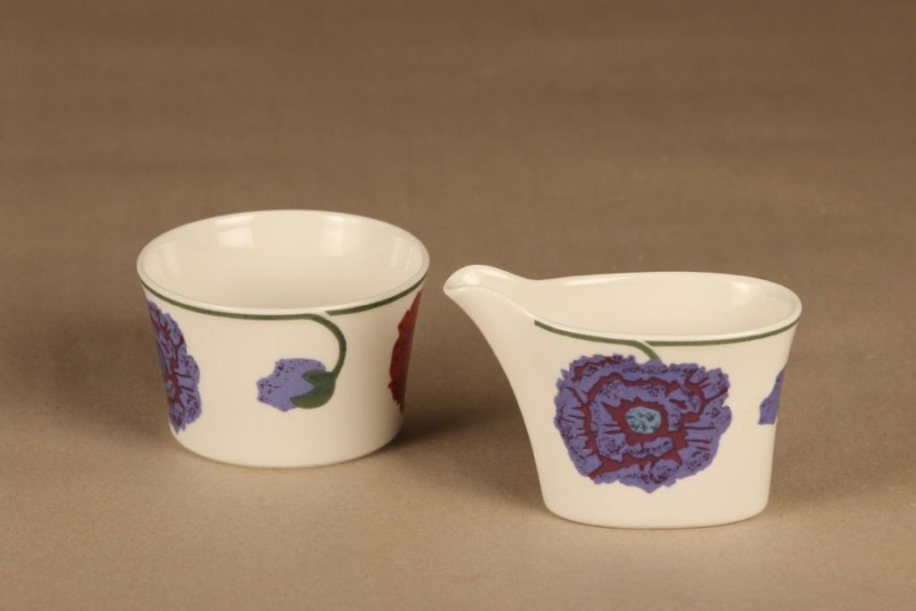 Arabia Illusia sugar bowl and creamer designer Fujiwo ishimoto