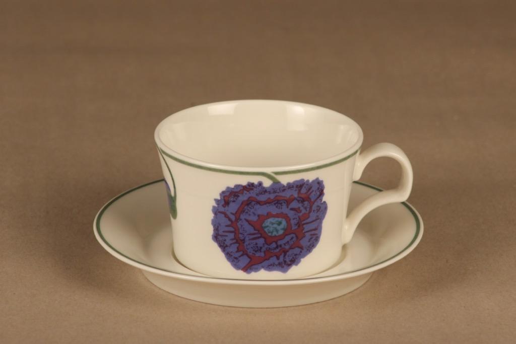 Arabia Illusia teekuppi,, suunnittelija Fujiwo ishimoto, , kukka