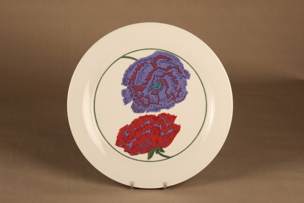 Arabia Illusia lautanen, 30 cm, suunnittelija Fujiwo ishimoto, 30 cm, kukka