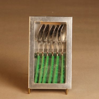 Hackman Colorina pikkulusikka, vihreä, 6 kpl, suunnittelija Nanny Still, retro