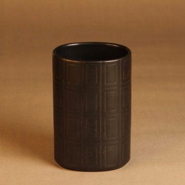 Arabia   maljakko, ruskea, suunnittelija Göran Bäck, funktionalismi