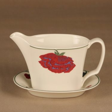 Arabia Illusia sauce jug and plate dark lilac designer  Fujiwo ishimoto
