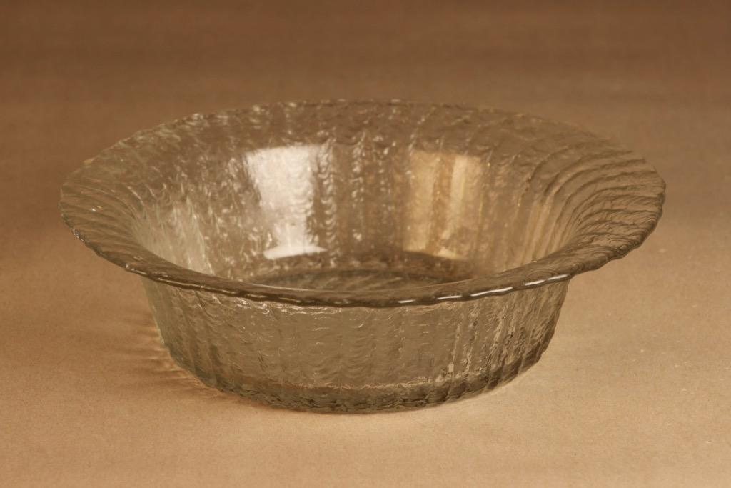Riihimäen lasi Tupru fruit bowl designer Nanny Still