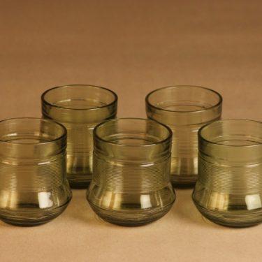 Karhula   lasi, vihreä, 5 kpl, suunnittelija Väinö Paasonen,