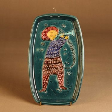 Kupittaan Savi  wall plate, hand-painted designer Gudrun Rainio